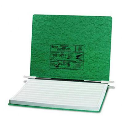 """Acco 14-7/8"""" x 11"""" Unburst Sheet Pressboard Hanging Data Binder, Dark Green"""