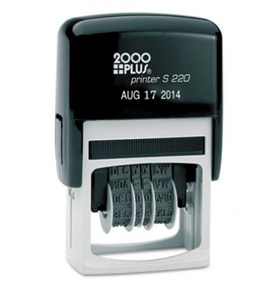 "2000 Plus Self-Inking Economy Dater, Black Ink, 1-1/2"" x 5/32"""