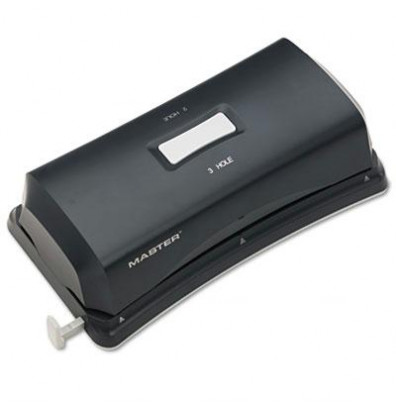 Master EP323 12-Sheet Electric/Battery Operated Duo 2 & 3-Hole Punch