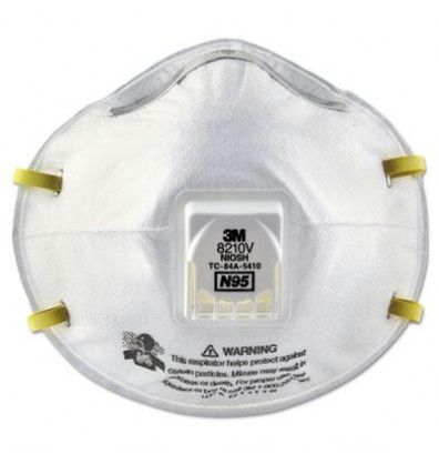 3M 8210V N95 Cool Flow Valve Particulate Respirator, Pack of 10