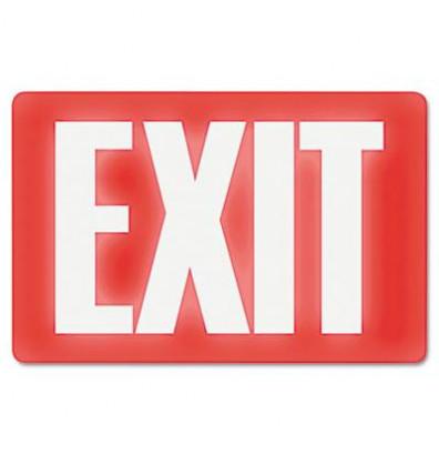 "Headline 12"" W x 8"" H Glow-in-the-Dark Exit Sign"
