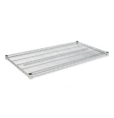 "Alera 48"" W x 24"" D 2-Pack Extra Shelves, Silver"