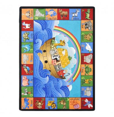 Joy Carpets Noah Alphabet Animals Classroom Rug