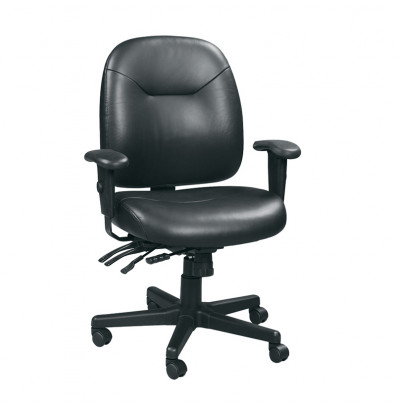 Eurotech 4x4 LE LM59802A Multifunction Leather Mid-Back Office Chair