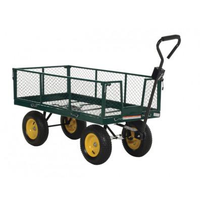 Vestil LSC-2448-4SD Retractable Sides Landscaping Cart