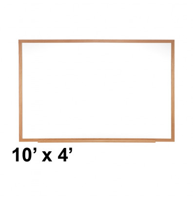 Ghent M1W-410-4 Traditional Centurion 10 ft. x 4 ft. Wood Frame Porcelain Magnetic Whiteboard