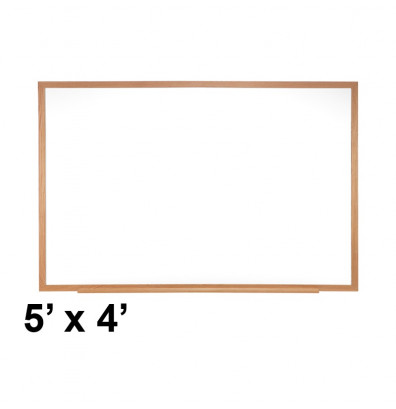 Ghent M1W-45-4 Traditional Centurion 5 ft. x 4 ft. Wood Frame Porcelain Magnetic Whiteboard