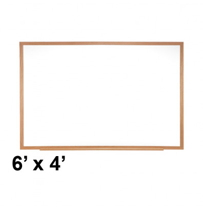 Ghent M1W-46-4 Traditional Centurion 6 ft. x 4 ft. Wood Frame Porcelain Magnetic Whiteboard