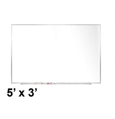 Ghent M2-35-4 5 ft. x 3 ft. Aluminum Frame Melamine Whiteboard