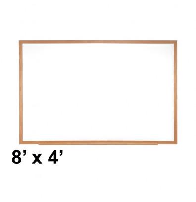 Ghent M2W-48-4 Verona 8 ft. x 4 ft. Wood Frame Melamine Whiteboard