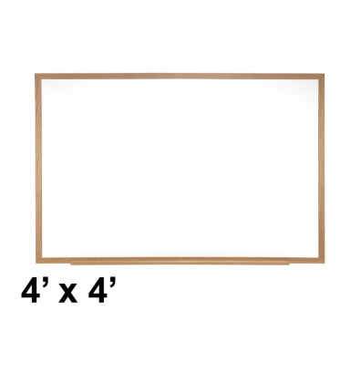 Ghent M3W-44-4 Spectra 4 ft. x 4 ft. Wood Frame Magnetic Painted Steel Whiteboard