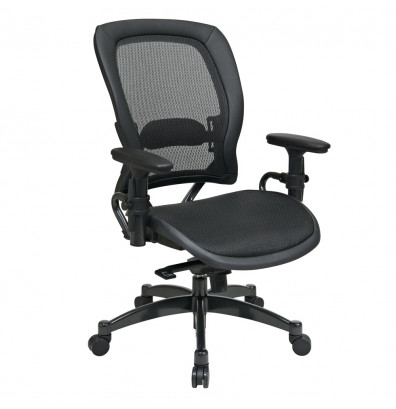 Office Star Space Seating Professional Synchro-Tilt Mesh Mid-Back Managers Chair