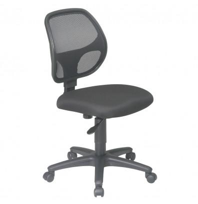 Office Star Work Smart Mesh-Back Fabric Mid-Back Task Chair