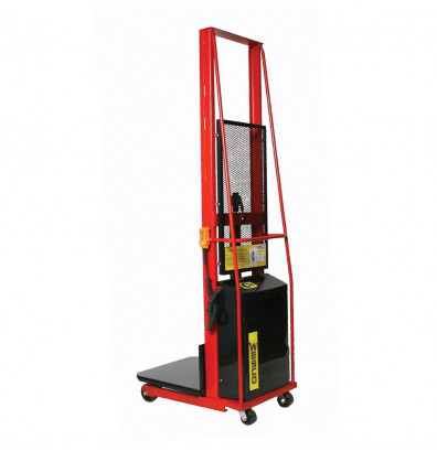 "Wesco PESPL-80-2424 80"" Lift 1000 lb Load Powered Lift Electric Platform Stacker"