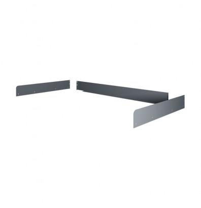 Tennsco Side & Back Rail Kit for All-Purpose Workbenches - Shown in Medium Grey