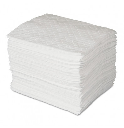 "SPC ENV MAXX 0.24 Gal. Enhanced Oil Sorbent Pad, 15"" W x 19"" L, White, 100/Pack"
