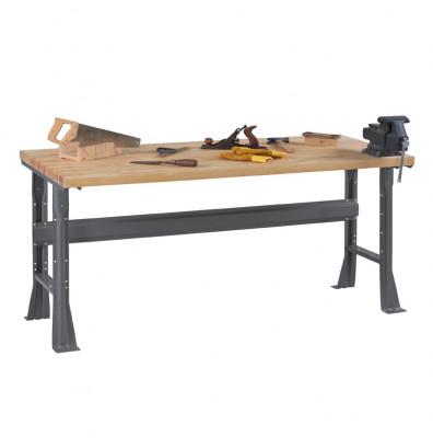 "Tennsco WB-1-3072W Hardwood Top Fixed Leg Workbench (72"" W x 30"" D x 33-3/4"" H)"