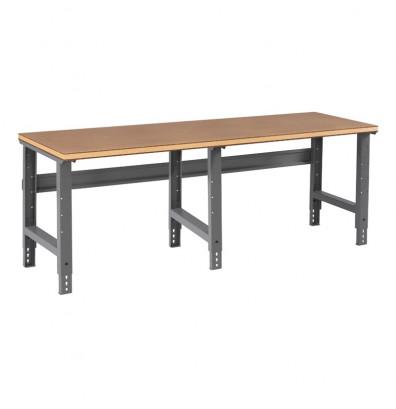 "Tennsco WBA-1-3696C Compressed Wood Top Adjustable Leg Workbench (96"" W x 36"" D x 27-7/8"" - 35-3/8"" H)"
