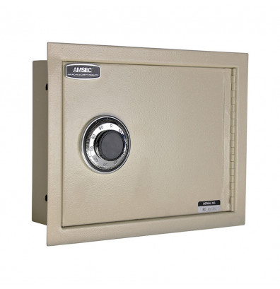 AmSec WS1014 1-Hour Fire 0.27 cu. ft. Steel In-Wall Safe