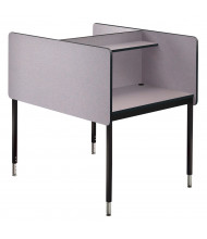 Smith Carrel Double-Sided Height Adjustable Study Carrel (Shown in Grey)