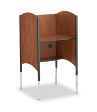 Smith Carrel Height Adjustable Hi-Lo Carrel with CPU Shelf (Shown in Cherry)