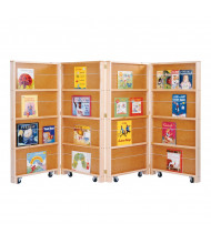 Jonti-Craft 4-Section Mobile Library Classroom Bookcase (example of use)