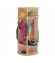Jonti-Craft Revolving 5-Section Cubbie Coat Locker