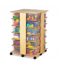 Jonti-Craft 24 Tub Tower Cubbie Storage Unit with Clear Tubs