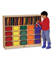 Jonti-Craft Cubbie Classroom Organizer with Colored Trays