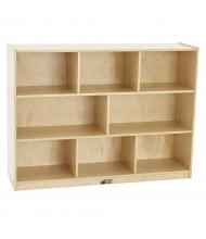 "ECR4Kids Birch 8-Section 36"" H Classroom Storage Cabinet"