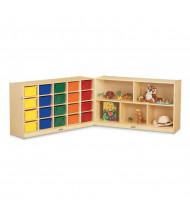 Jonti-Craft 20 Cubbie-Tray Fold-n-Lock Classroom Storage Unit (Trays Not Included)