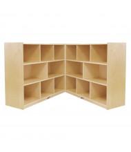 "ECR4Kids Birch Fold & Lock 8-Section 36"" H Classroom Storage Cabinet"