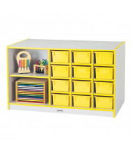 Jonti-Craft Rainbow Accents Mobile Cubbie Classroom Island Storage (Shown in Yellow, trays sold separately)
