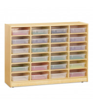Jonti-Craft 24 Paper-Tray Mobile Classroom Storage with Clear Paper-Trays