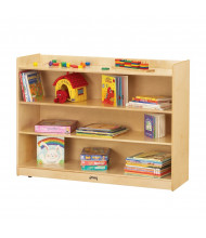Jonti-Craft ThriftyKYDZ 3-Shelf Adjustable Mobile Classroom Bookcase with Lip (example of use)