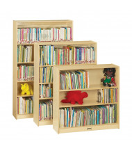 "Jonti-Craft 60"" Tall 5-Shelf Classroom Bookcase (shown with 4 and 3 shelf models)"