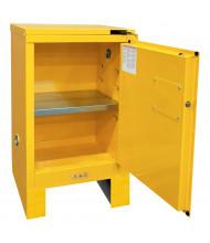 Durham Steel 12 Gal Self-Closing Door Flammable Storage Cabinet with Legs