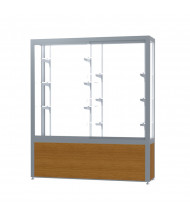 """Waddell Challenger 10405 Series Display Case 60""""W x 66""""H x 16""""D (Shown in Light Oak/White Laminate/Satin Natural)"""