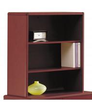 "HON 10700 Series 33"" 2-Shelf Bookcase Hutch, Mahogany"