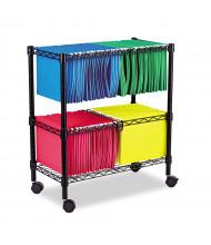 Alera Two-Tier Rolling File Cart