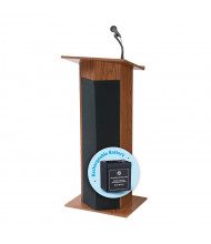 Oklahoma Sound Power Plus Sound System Lectern (Shown in Medium Oak)
