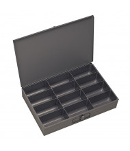 Durham Steel Large Compartment Parts Boxes, Pack of 2 (12 compartment model shown)