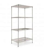 "Alera SW503624 36"" W x 24"" D x 72"" H 4-Shelf Wire Shelving Unit (Shown in Silver)"