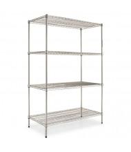"Alera SW504824SR 48"" W x 24"" D x 72"" H 4-Shelf Wire Shelving Unit (Shown in Silver)"