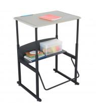 "Safco AlphaBetter 28"" x 20"" Height Adjustable Standing Student Desk"