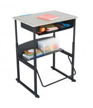 """Safco AlphaBetter 1202BE 28"""" x 20"""" Height Adjustable Stand-Up Book Box Student Desk (example of use)"""