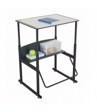 """Safco AlphaBetter 1203GR 28"""" x 20"""" Premium Height Adjustable Stand-Up Student Desk (example of use)"""