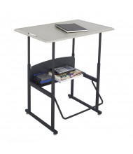 """Safco AlphaBetter 1206BE 36"""" x 24"""" Height Adjustable Stand-Up Student Desk (example of use)"""