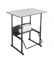 """Safco AlphaBetter 1208GR 36"""" x 24"""" Premium Height Adjustable Stand-Up Student Desk (example of use)"""