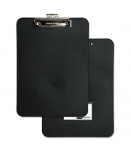 "Baumgartens 1/2"" Capacity 8-1/2"" x 11"" Unbreakable Recycled Clipboard, Black"